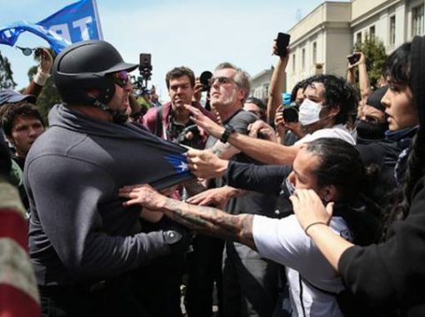 Mayhem in Berkeley: Trump Supporters, Counter-Protesters Clash During Rally